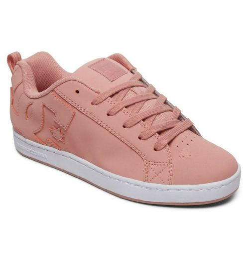 DC SHOES WOMENS COURT GRAFFIK TRAINERS.NEW BOXED PINK LEATHER SKATE SHOES S20 8